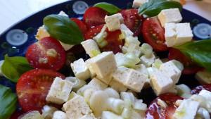 Mediterranean diet, salad