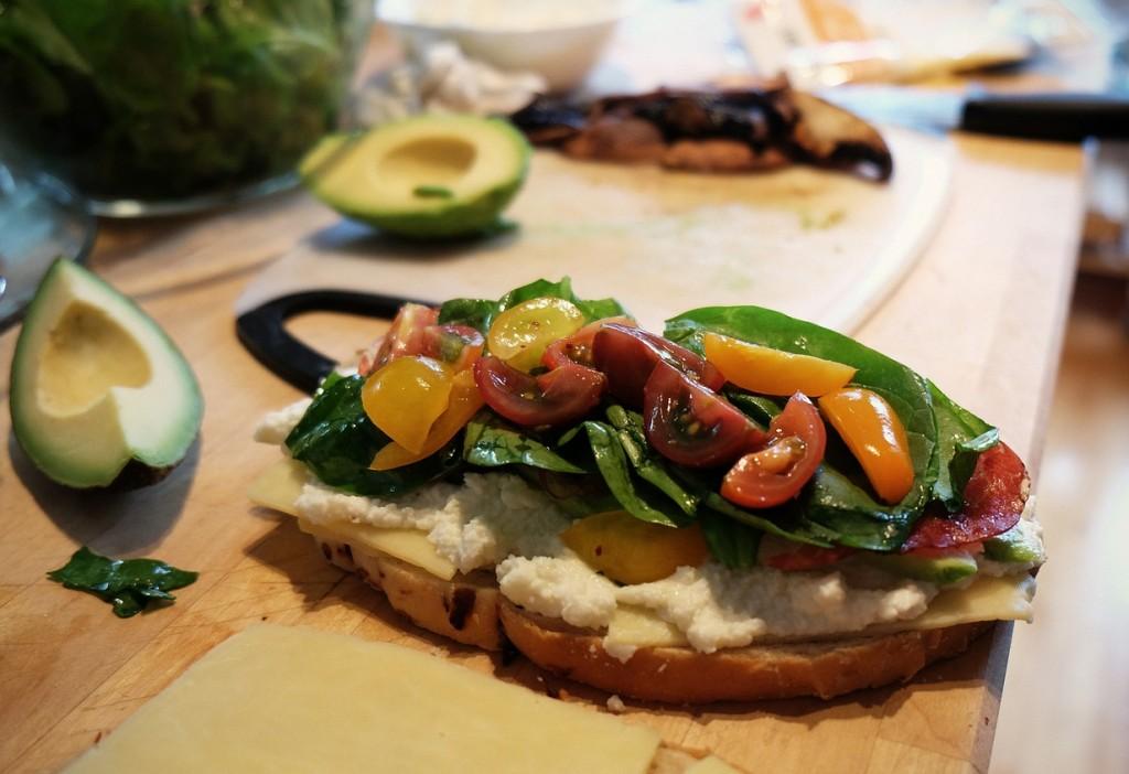 Mediterranean diet, sandwich