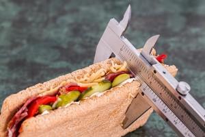 Sandwich with caliper